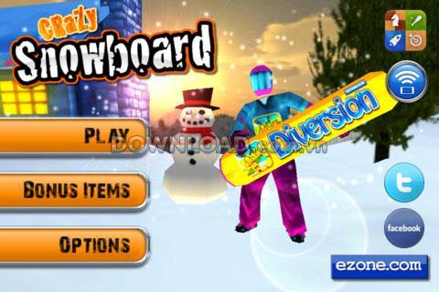iOS用CrazySnowboard-iPhoneのスノーボードゲーム