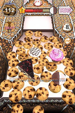 Cookie Dozer für iOS - Spiel schieben Sie den Kuchen in das Fach