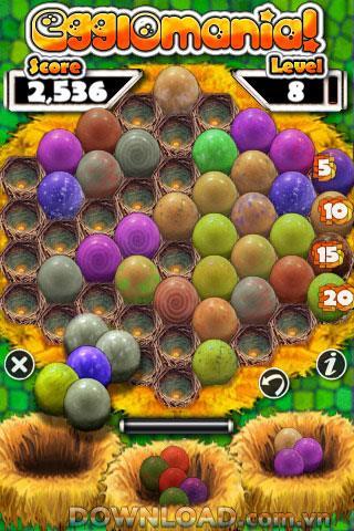 Egglomania pour iOS - Jeu de puzzle oeuf