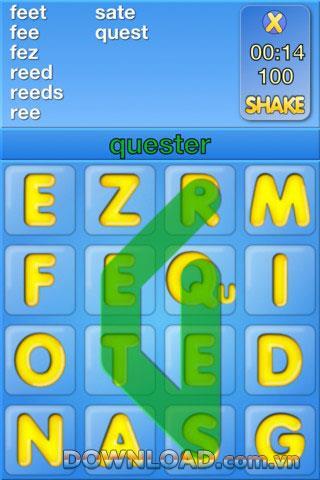 Word Shaker HD Kostenlos für iOS - Kreuzworträtselspiel