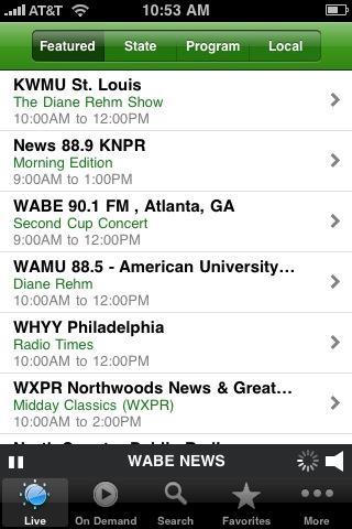 Öffentlicher Radio Player für iPhone