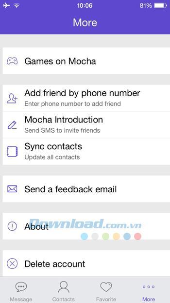 Mocha für iOS 5.18 - Senden Sie kostenlose SMS auf iPhone / iPad
