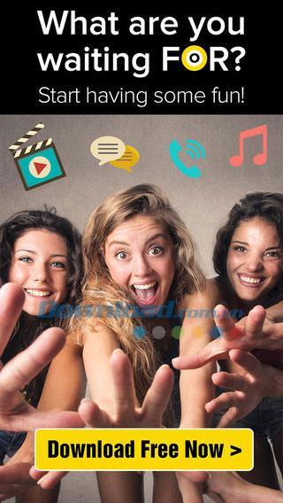 Runden für iOS 3.70 - Kostenloser Video-Chat und Anrufe auf dem iPhone / iPad