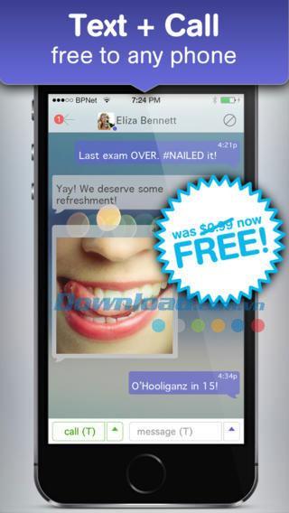 Pinger EX für iOS 7.3.4 - Kostenlose SMS-Anrufe auf dem iPhone / iPad