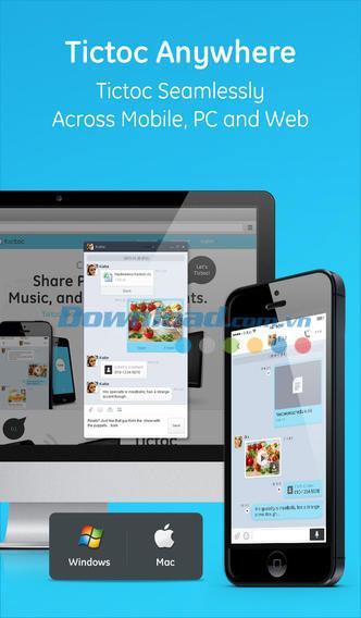 Tictoc for iOS 3.1.03-iPhone / iPadで無料でチャットと共有
