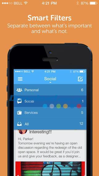 Molto für iOS 2.0.5 - Verwalten Sie E-Mails für iPhone / iPad
