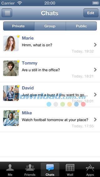 AppMe Chat Messenger für iOS 2.0.1 - Kostenlose Chat-Anwendung für iOS
