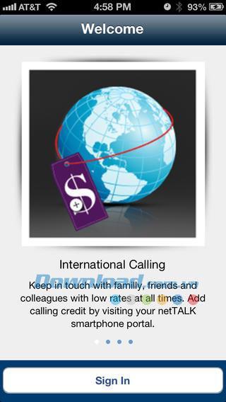netTALK pour iOS 3.0.4 - Service d'appels internationaux bon marché sur iPhone / iPad
