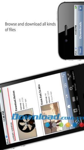 iDownloads Plus pour iOS 1.5.5 - Gestionnaire de téléchargement pour iPhone / iPad