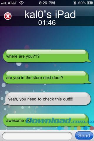 Bluetooth Text für iOS 1.2 - SMS über Bluetooth für iPhone / iPad