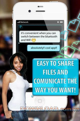 おしゃべりなiOS-BluetoothとWiFiforiPhoneを介したアプリケーションチャット