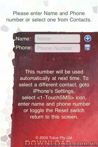 1-TouchSMS pour iOS - Logiciel pour envoyer des messages pratique pour iPhone
