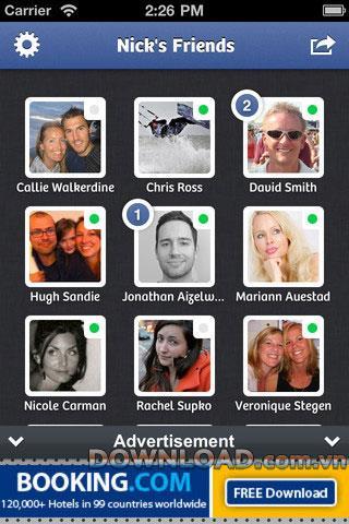 Tippen Sie auf Chat für Facebook - Facebook-Chat-Anwendung für iPhone