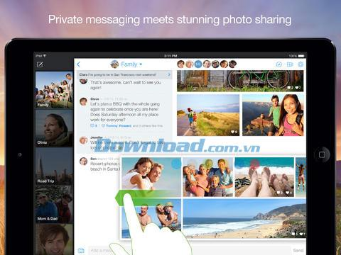 BeamIt for iOS 1.0-iPhone / iPadでの写真とメッセージングの共有が改善されました