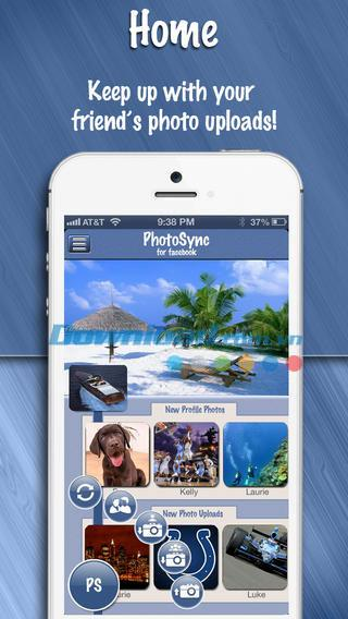 PhotoSync for Facebook Lite for iOS 2.3.0-iPhone / iPadでFacebookの写真を同期する