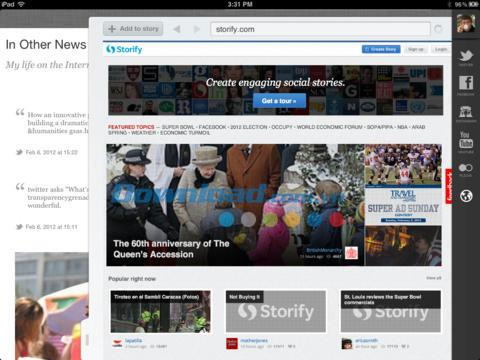 Storify für iPad 1.9.3 - Social Storytelling für iPad