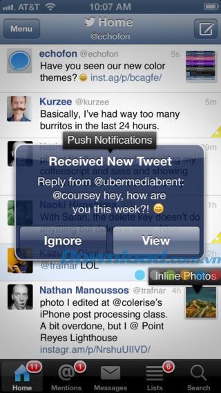 Echofon for Twitter for iOS 6.5-iPhone / iPadでTwitterの超高速にアクセス