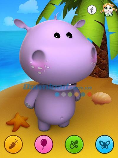 Talking Baby Hippo für iOS 2.1 - Hippo-Anwendung, die die menschliche Stimme auf dem iPhone / iPad nachahmt
