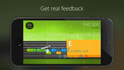 Yousician Guitar pour iOS 1.0.1 - Apprenez la guitare sur votre iPhone / iPad
