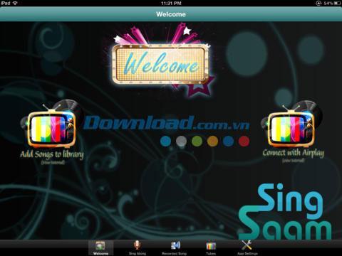 Sing Saam Free pour iPad 1.1 - Amusez-vous au karaoké sur l'iPad