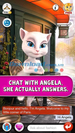 おしゃべり猫のアンジェラforiOS 2.6-iPhone / iPadで人間の声を模倣した猫のアプリケーション
