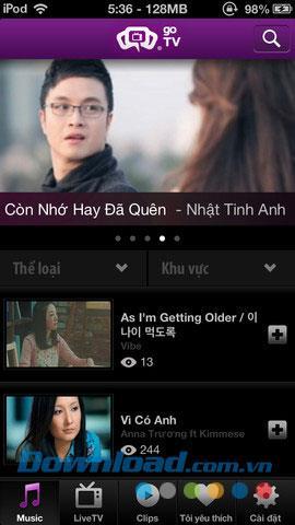 iOS1.0用goTV-アプリケーションエンターテインメントの統合