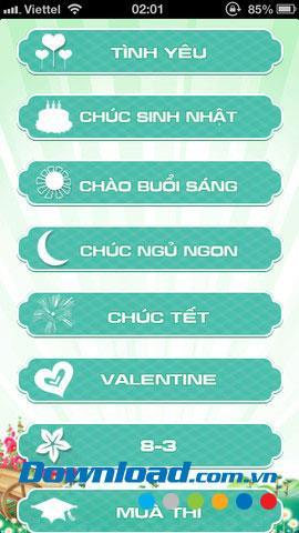 SMS Kute pour iOS 1.0 - Application pour synthétiser des messages amusants