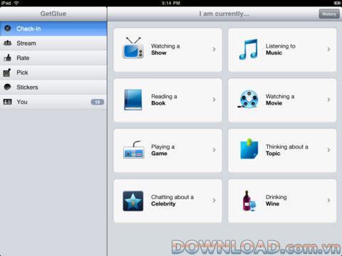 GetGlue für iPad 3.0 - GetGlue Social Networking-Anwendung für iPad