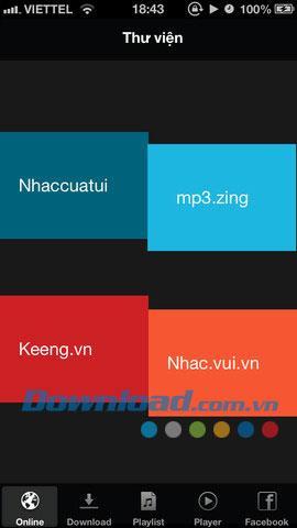 iOS1.0用のポケットミュージック-オンラインで音楽を聴く
