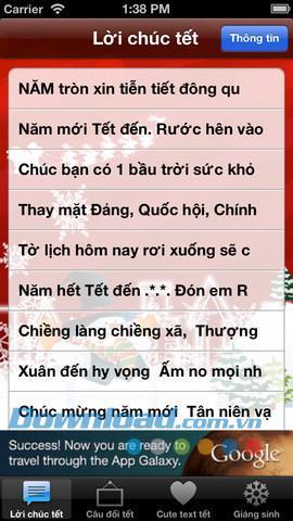 Souhaits de nouvel an pour iOS 1.1 - Messages de voeux de nouvel an 2013