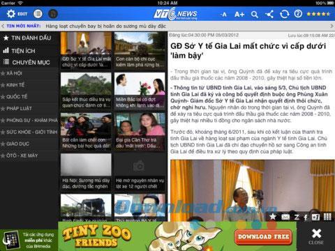 VTC News HD for iPad2.0-新聞アプリケーション