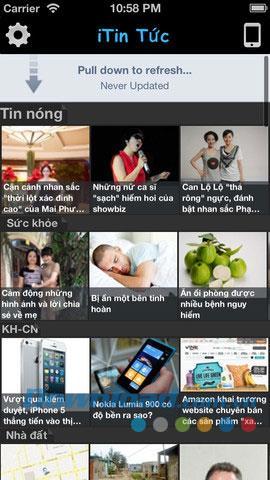 iTin Tuc für iOS 1.3 - Nachrichtenaggregationsanwendung