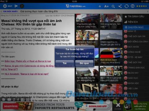 Bao Viet Nam HD pour iPad 2.0 - Application d'agrégation de journaux