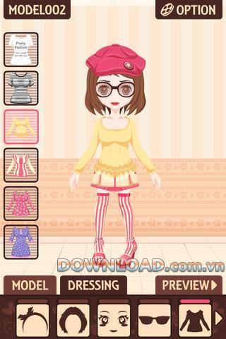 Pretty Fashion für iOS - Spiel wählen Sie Kostüme auf dem iPhone