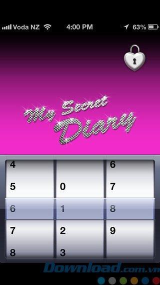 iOS3.2用の私の秘密の日記-iPhone / iPad上の個人的な日記アプリケーション