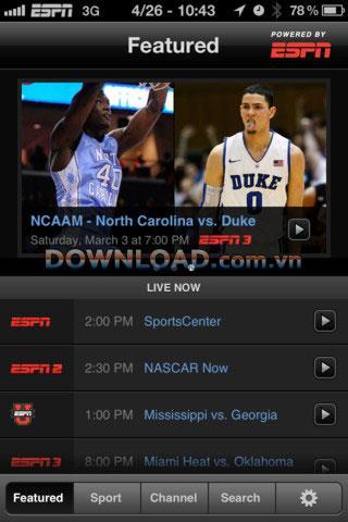 WatchESPN pour iOS - Regardez ESPN en direct sur iOS