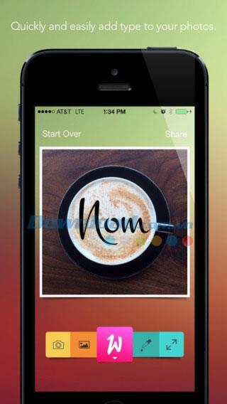 Werds für iOS 1.1.8 - Bildunterschrift einfügen