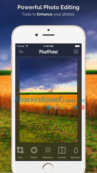 PixelPoint for iOS 4-iPhone / iPadでの無料の写真編集