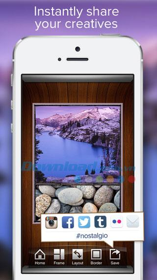 Nostalgio for iOS 2.0-iPhone / iPadで写真を編集してコラージュする