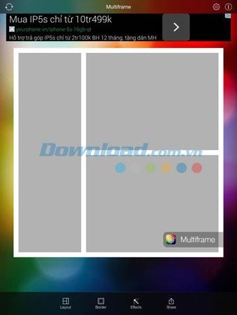 iOS2.0用マルチフレーム-iPhone / iPadでコラージュを作成