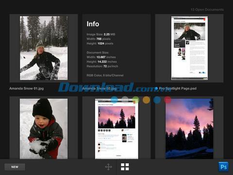 Adobe Nav pour Photoshop pour iPad 1.1 - Prise en charge de Photoshop CS5 sur iPad