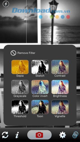 カメラフィルター! iOS2.0用-iPhone用の写真編集ソフトウェア