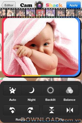 CamShack + pour iOS - Logiciel de retouche photo pour iPhone
