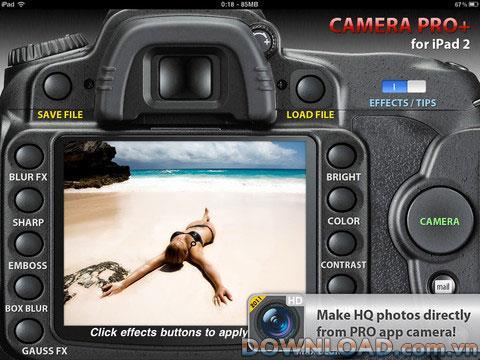 Camera Pro Lite für iPad - Professionelle Fotoanwendung für iPad