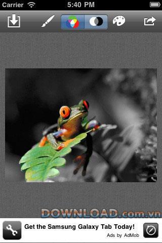 iOS用カラータッチフリー-iPhone用写真色補正アプリケーション