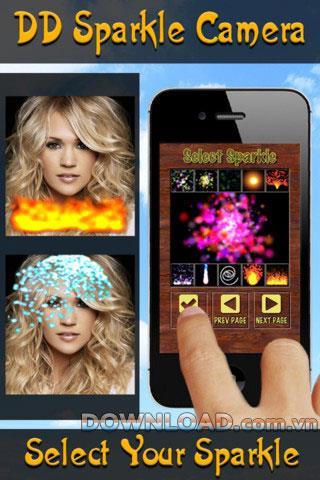 DD Sparkle Camera für iOS - Fotobearbeitungssoftware für iPhone