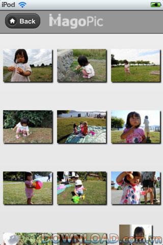 MagoPic für iOS - Software zum Teilen von Familienfotos für das iPhone