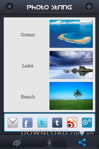 PhotoString für iOS - Anwendungscollage für iPhone