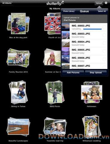 Shutterfly foriPad-iPad用のフォトアルバム管理ソフトウェア