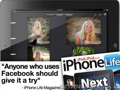 Fotoalbum Kostenlos für Facebook für iPad - Verwalten Sie Facebook-Fotoalben auf dem iPad